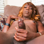 Ebony is the sweet sexy cousin of up and cumming black tgirls model, Kimmy. New to Sin City from Hotlanta, get your dicks out and get ready to learn that super sexy talent runs in the family!