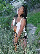 TS Miranda posing as a naughty commando girl