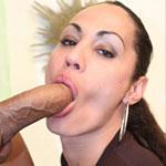 Hot brazilian tranny in stocking sucks and fucks a fat cock