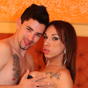 Brazilian transsexual Carol Vendramini is cock hungry. She pushes her mouth down on Pablo's hard dick and then fucks his tight asshole so she can watch his cock bouncing around at the same time.