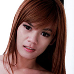 Cute ladyboy strips and strokes