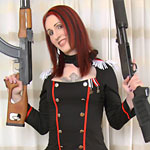 Brittany salutes the troops in her military-themed outfit