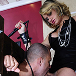 Tranny dominatrix takes control of her man