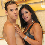 Aline from Sao Paulo has an insatiable sexual energy. Her man Kaike spits his own cum over Aline\'s body.