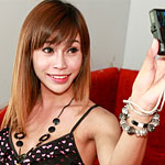 Ladyboy Ladyboy girl of the month strips down to show off her goodies