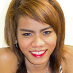 Aun is horny ladyboy from Bangkok. She has small, hormone tits with dark round nipples. She has a playful personality
