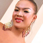 Slim ladyboy strips and strokes her shaft