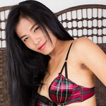 Nina is an authentic student, she's the typical young ladyboy next door. She's   got a cute Issan face, long black hair, nice boobs. Her cock is big, it's rock   hard but she's got a smooth and soft foreskin that feels awesome to the touch and in the mouth.