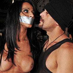 Shemale Nicolly Navarro forced to fulfill this guys fantasy