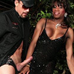Rafaela gives a dude his first black cock