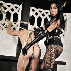 Super sexy and kinky ts mistress in action