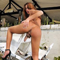 Suyane Dantas getting naked outdoors