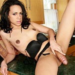 Hot young new bi racial tgirl who we found on the internet