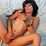 LA tgirl Aubrey Starr in a sexy solo