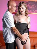 Transsexual Tiffany Starr fucking a guy