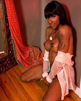 Irresistible black tgirl Natalia Coxxx seducing with her beauty