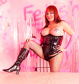Dirty Wendy posing in sexy corset & pantyhose