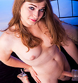 Hot big cocked transsexual Tiffany fucking a fleshlight