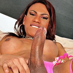 Big cock brazilian shemale fucks a guy