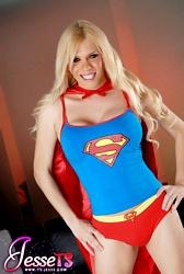 Delicious Jesse Posing As Superwoman