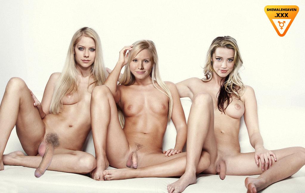Famous Female stars fake shemale pics